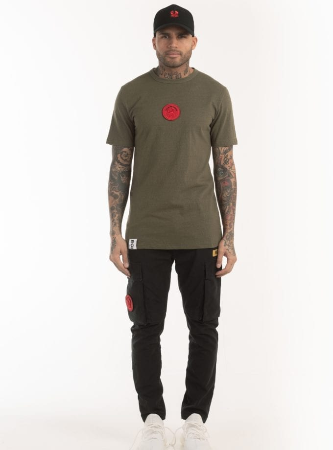 BRIX SS TEE 505 green once we were warriors