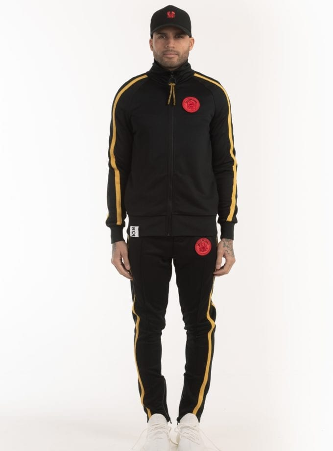 FIX TRACK JACKET 707 black yellow once we were warriors